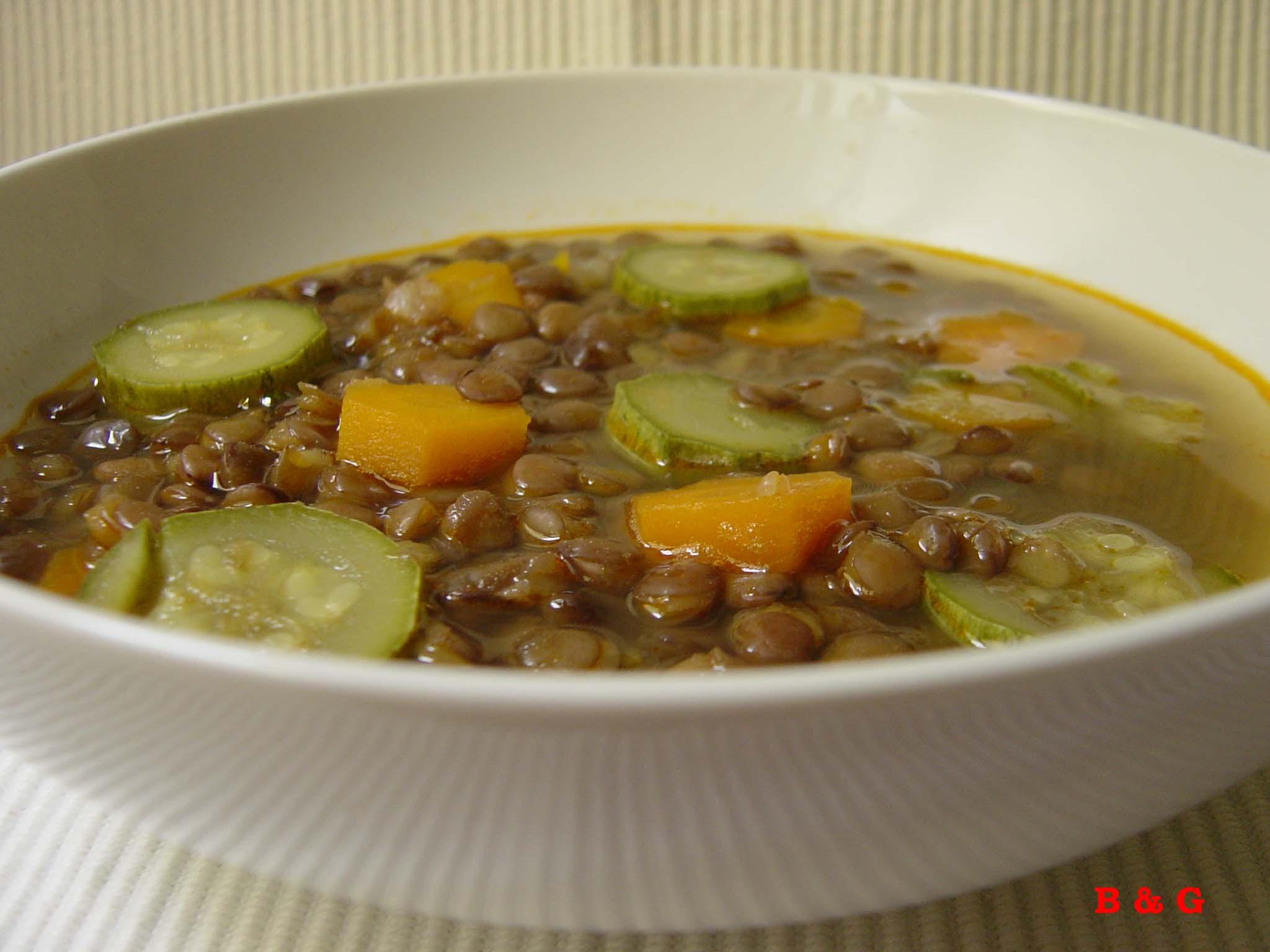 lentejas hortalizas