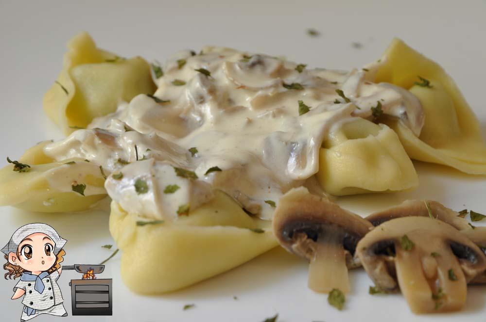 Las recetas de glutoniana tortellini con salsa cremosa - Salsas para pasta con nata ...